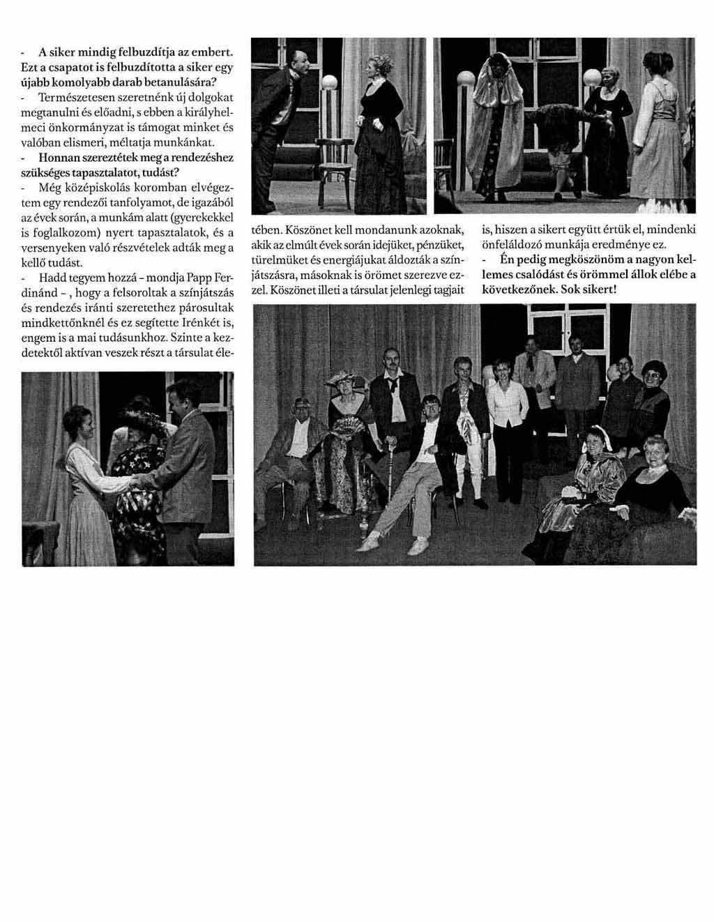 Bugrisok Királyhelmec színpadán